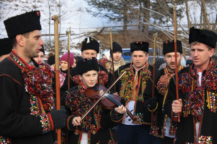 Колядницька партія. Село Криворівн